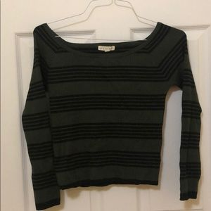 Green and black striped long sleeve